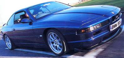BMW 850CSi in motion