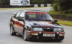 Texaco Ford Sierra on track